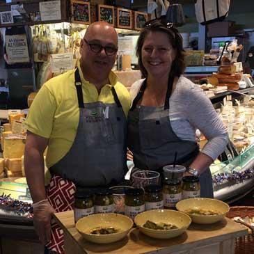 Patrick & Kay Gigliotti Pickle tasting