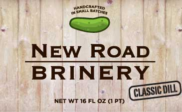 new road brinery jar label classic dill pickle