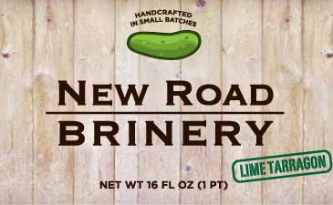 new road brinery jar label lime tarragon pickle
