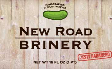 new road brinery jar label zesty habanero pickle
