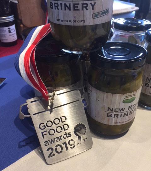good food awards 2019 winner new road brinery pickles