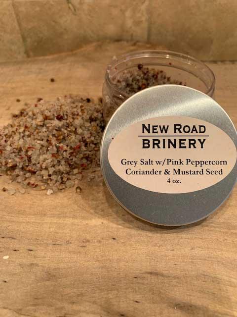 Grey Salt with Pink Peppercorns, Coriander & Mustard Seed
